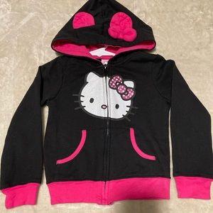 Hello Kitty Little Girls Graphic Zip Hoodie